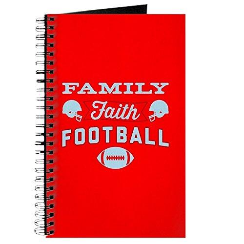 CafePress–Family Faith Fußball rot–Spiralbindung Journal Notebook, persönliches Tagebuch, Dot Grid (Glauben Fußball Und Familie)