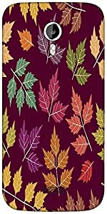 Snoogg a seamless pattern with leaf Designer Protective Back Case Cover For Micromax A116