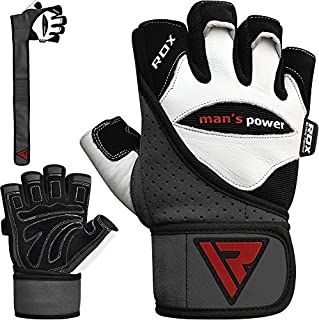 RDX Weight Lifting Gloves Gym Workout Powerlifting Fitness Bodybuilding Leather Breathable Strength Training Wrist Support Exercise (B004XJ5D10)   Amazon price tracker / tracking, Amazon price history charts, Amazon price watches, Amazon price drop alerts