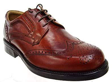 MENS BROWN LEATHER BROGUES SHOES SIZE UK 7, 8, 9, 10, 11 £29.99 (11)