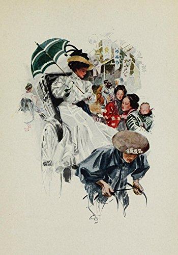 Harrison Fisher – American Girls in Miniature 1912 The American Girl in Japan Kunstdruck (60,96 x 91,44 cm) -
