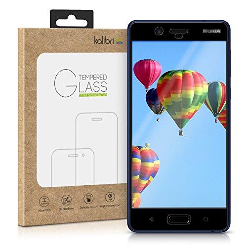 kalibri-Echtglas-Displayschutz-fr-Nokia-8-3D-Schutzglas-Full-Cover-Screen-Protector-mit-Rahmen-Glas-Folie-auch-fr-gewlbtes-Display-in-Schwarz