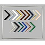 Biggy Kunststoff Bilderrahmen 50x150 cm 150x50 cm Farbauswahl: hier Silber viele Größen mit spiegelfreiem Acrylglas