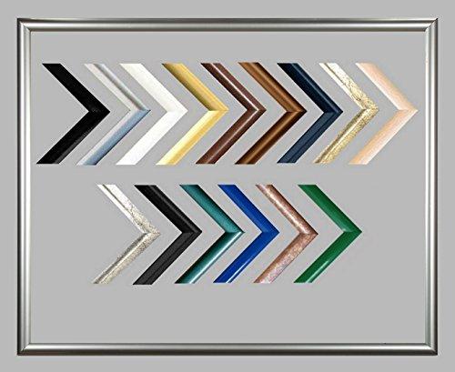 Biggy Kunststoff Bilderrahmen 76x101 cm 101x76 cm Farbauswahl: hier Silber viele Größen mit spiegelfreiem Acrylglas (Große Kunststoff-bilderrahmen)
