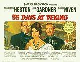 55días en Pekín Póster de película B 11x 14en–28cm x 36cm Charlton Heston Ava Gardner David Niven John Irlanda Flora Robson Paul Lukas