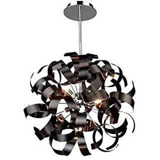 Artcraft Lighting Bel Air Pendant, Brushed Copper/Chrome by Artcraft Lighting