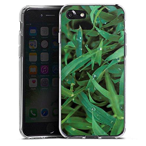 Apple iPhone X Silikon Hülle Case Schutzhülle Grashalm Tautropfen Gras Silikon Case transparent