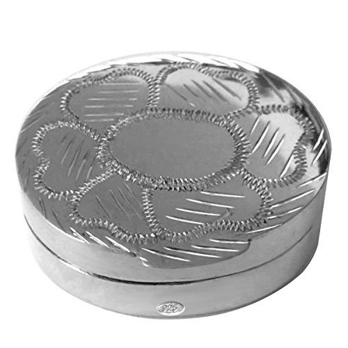 silberkanne Zahndose, Haardose, Pillendose 3,5x3x1,3 cm Silber 925 Sterling in Premium Verarbeitung