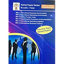 Mom Ist Year Based On IGNOU University Pattern IBO-1,2,3,4,5,6 Previous Years Solved Papers Natraj Paper Series M.Com