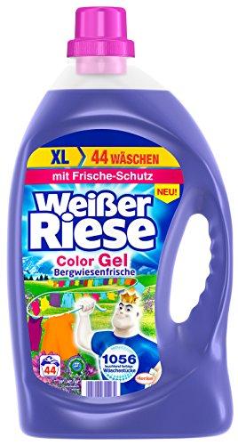 Weißer Riese Color Gel Bergwiesenfrische, 1er Pack (1 x 44 Waschladungen)