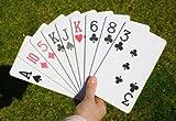 Kartenspiel in Großformat, 56 Spielkarten, ca. 10 x 18 cm, für draußen geeignet, ab 6 Jahre, Material: EVA (Moosgummi)