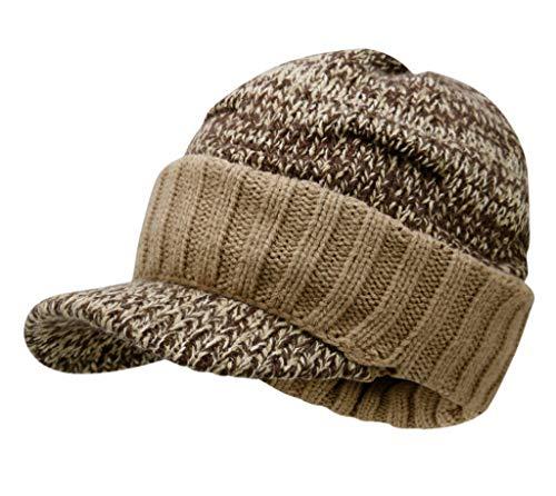 Bigood Casquette à Tricot Rebord Bonnet Chaud Homem Femme Chapeau Souple Unisexe