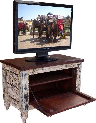 Guru-Shop Caja Pequeña Televisión de Plasma Antigua Mesa de Televiso