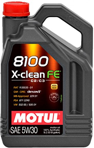 MOTUL-Olio 8100X-Clean FE 5W30, ACEA C2/C3) 5L