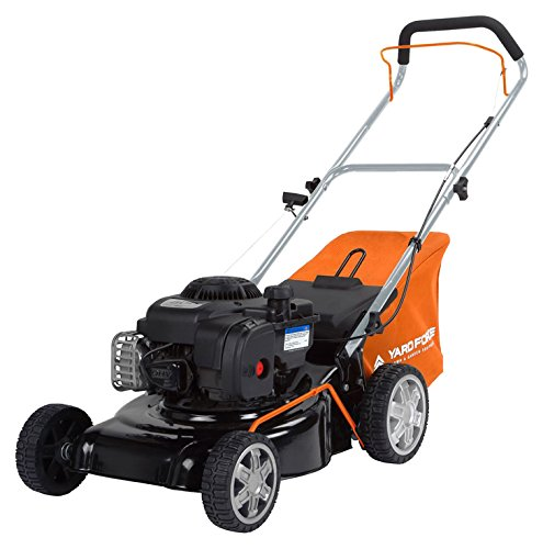 Yard Force 41cm (16″) Hand Push Rotary Petrol Lawnmower with 125cc Briggs & Stratton 300 Series Engine