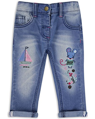 The Essential One - Girls Kids Jeans - Ellie Mouse - 5-6 Years - Blue - EOT321