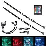 Moobibear 6W Funk RGB LED Strips Streifen für PC Gehäuse, selbstklebende rgb Lichtketten Lichtleiste Lichtband Lichtschlauch inkl. Fernbedienung und Farbewechsel.