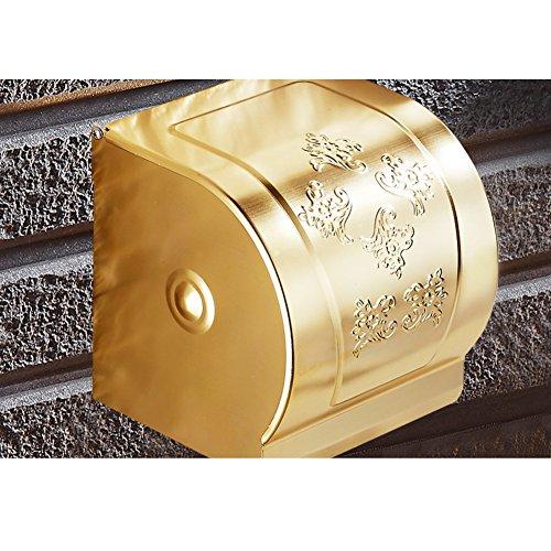 IWQTO Edelstahl Toilettenpapierhalter Roll-Rack Gewebe-Halter Papierrolle Badezimmer Küche Regal Wandmontage Typ 100% Metal Polnische Chrome Wasserdicht .-F 5x4x5inch