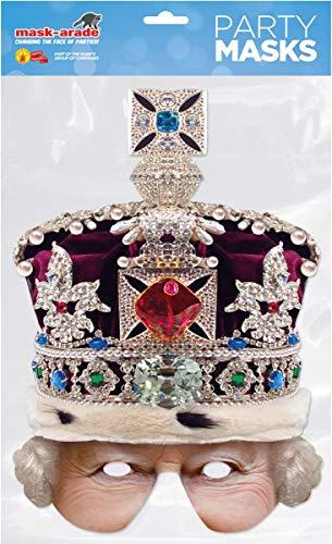 Queen Crowned Half Mask