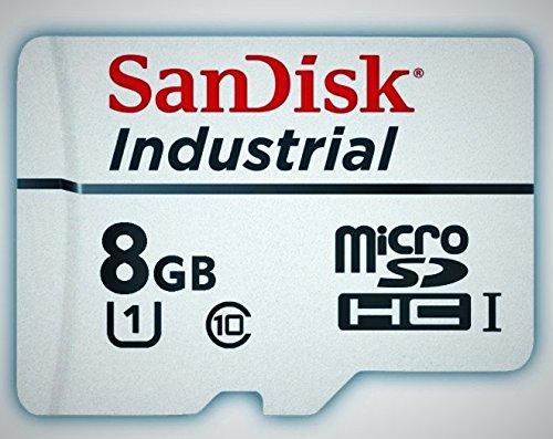 Sandisk Industrial 8GB microSD SDHC UHS-1 class 10 microSD Speicherkarte für industrielle Anwendungen 8GB miroSDHC class 10 Karte + SD Adapter + Schutzhülle SDSDQAF-008G C10 Industrial MLC Bulk (Sdhc 8gb Sandisk)