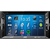 JVC Autoradio 2 DIN Spotify Control mit Bluetooth für Toyota Avensis T25 2003-2009 incl Einbauset schwarz