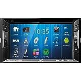 JVC Autoradio 2 DIN Spotify Control mit Bluetooth passend für BMW 1 E82 Coupe 11/2007-10/2013 incl Einbauset CanBus