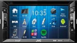 JVC Autoradio 2 DIN Spotify Control mit Bluetooth für Mitsubishi Mirage + Space Star ab 2013 incl Einbauset piano black
