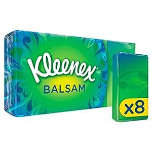 Kleenex Balsam Tissues - 8 Pocket Packs (72 Tissues Total)
