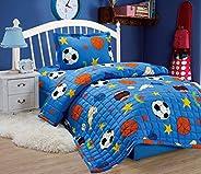Compressed Comforter 3 Piece Set For Kids Single Size, Balls