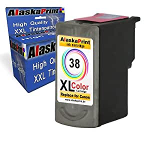 Cartouche d'encre compatible pour imprimante canon cL - 38–xL (1 x color ink cartridge primSerie original)