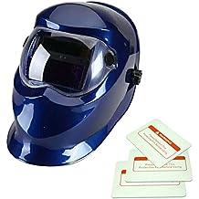 Energía Solar Auto-oscurecimiento Caretas para Soldar Casco de Soldadura Escudo Gafas Protector Máscara Azul-5001