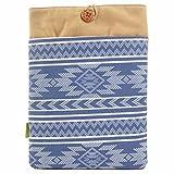 #DoYourMobile© Laptoptasche Notebooktasche 34 x 23,5 cm (13 Zoll) Schutzhülle für Laptop Notebook/Design Tasche aus Stoff/blaues Aztekennmuster 13