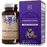 FS Pterostilbeno Estilbenoide [50 mg] Suplemento de Superalimento, 90 Cápsulas Veganas | Rellenos Limpios, Sin Gelatina | Fórmula bioenergética antienvejecimiento - Sin OGM, Sin Gluten Ni Lácteos