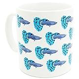 Robert William Tropische Fische Guppy Tasse, blau