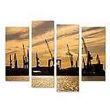 islandburner Bild Bilder auf Leinwand Hafen Stadt Hamburg