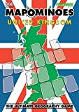 Image for board game MAPOMINOES UK - Fun educational geography travel game about connecting counties in England, Scotland, Wales & Northern Ireland. Like dominoes with maps.