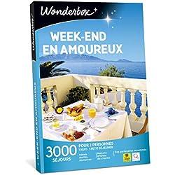 Wonderbox - Coffret cadeau pour couple saint valentin - WEEK-END EN AMOUREUX - idée cadeau de noël - 2900 séjours romantiques