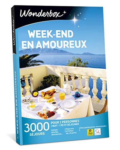 Wonderbox - Coffret cadeau couple - WEEK-END EN AMOUREUX - 2900 séjours romantiques...
