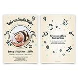 10 x Taufeinladungen Taufkarten Einladungskarten Taufe Einladung - Bällebad