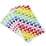 Hosaire 6 Fiches Autocollant Sticker Motif Kawaii Petite Coeur Stickers Adhésif Cartoon Décoration de DIY Calendrier Album Scrapbooking Diary Cadeau Idéal pour Enfant