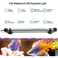GreenSun 48CM Aquarium Tube Luminaire D'éclairage étanche IP68 RGB 16 Couleur Lumière Submersible
