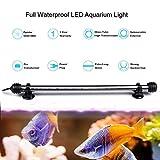 DOCEAN 38 cm Aquarium LED Beleuchtung 16 Farb RGB Steuerung Leuchte Lampe Lighting EU Stecker Wasserdicht IP68 Unterwasserleuchte für Fisch Tank