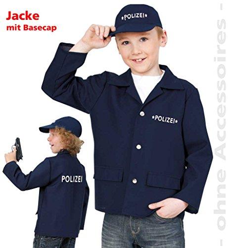 Kinder-Kostüm Polizei Jacke mit Basecap, Polizist, Security, Wachtmeister, Uniform (Kostüm Kinder Ideen Bauern Für)