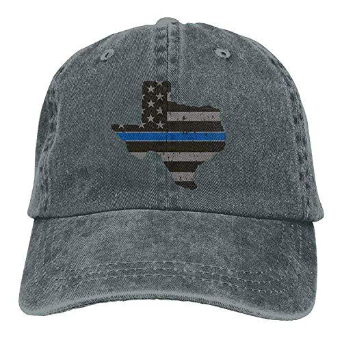 Basecap Hip-Hop Cap Kappe Unisex Snapback Meius Texas State Thin Blue Line Flag Fashion Unisex Adjustable Lightweight Breathable Soft Dad Baseball Cap Asphalt -
