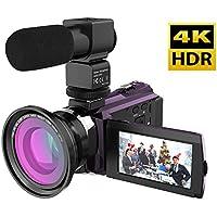 Andoer 4K 1080P 48MP WiFi Videocamera digitale Registratore videocamera