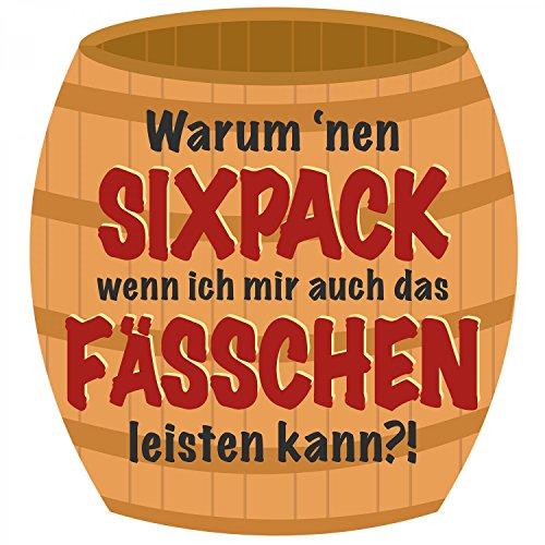 Warum 'nen Sixpack - Herren T-Shirt von Fashionalarm | Spaß & Fun Shirt mit Spruch | Zum Party machen Alkohol Bier Trinken Feiern Tanzen | Ideal für Herrentag Vatertag Himmelfahrt Festival Weiß