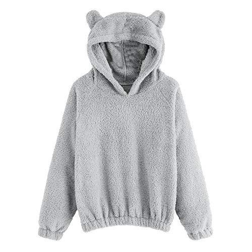 (JiaMeng Ladies Teddy Hoodie Sweater Doppelseitiger Bär Pullover Fleece Sweatshirt Winter Warmer Kapuzenpullover)