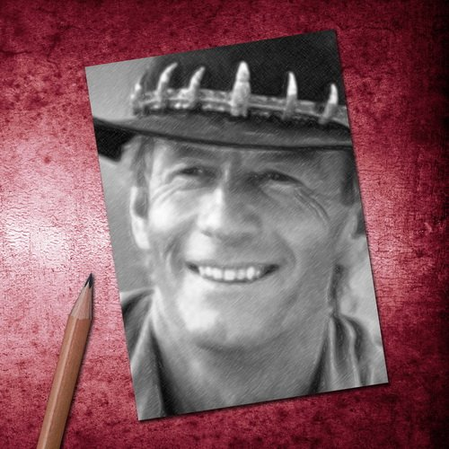 PAUL HOGAN - ACEO Sketch Card (Signed by the Artist) #js001