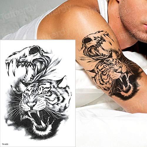 Zhuhuimin 5 Teile/los Tattoo Ärmel Tattoo Tiger Schwalbe Pfote Tattoo Halloween Körper Wasser Transfer Tattoo wasserdicht Tattoo Junge (Tiger-augen Make-up Halloween)