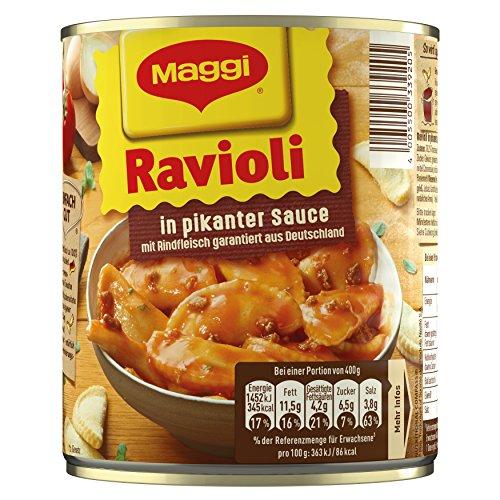 Maggi Ravioli in pikanter Sauce, 6er Pack (6 x 800 g Dose)